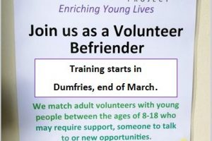 Volunteer Befriending Training in Dumfries, starts end March 2019