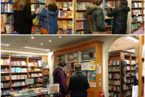 Young People & Befrienders enjoying a trip to Waterstones