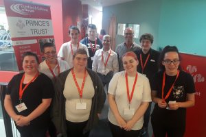 D&G College, Prince's Trust Team 35 at the fund-raising coffee morning for DGBP